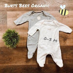 2X Burts Bees Organic Cotton Footsies! 🐝🐝